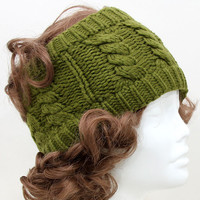 Pirjo Cable Knit Earmuff Headband