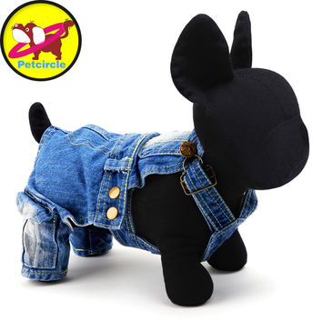 2016 petcircle Hot Sale Dogs Clothing New Style Dog Overalls jean dog Jumpsuits for chihuahua Clothes For Dog Cat Free Shipping