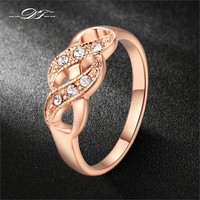 Creepers CZ Diamond Vintage Finger Rings 18K Gold Plated Fashion Brand Wedding Jewellery