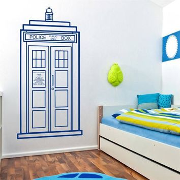 ik2245 Wall Decal Sticker Time Machine Spaceship tardis doctor who bedroom