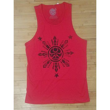 "HIC ""Samar"" Mens Heather Red Tank Top"