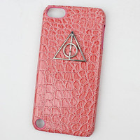 Deathly Hallows Harry Potter And Pink Hard Case Cover for Apple Ipod Touch 5, iPod Touch 5th,iTouch 5,iPod Touch 5