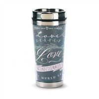 Stainless Steel Travel Mug-Love