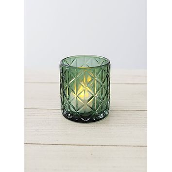 Lionel Glass Votive Candle Holder in Green