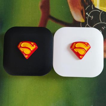 LIUSVENTINA DIY resin superman contact lens case for eyes contact lenses box for glasses spectacle case
