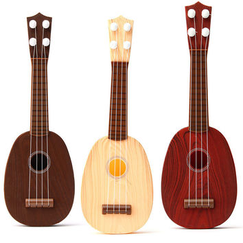 4 String Plastic Classical Guitar Ukulele Musical Instrument Toy For Kids Children Play Educational Christmas Gift