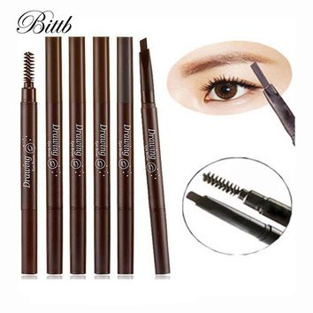 Bittb 20Pcs Contour Long Lasting Eyebrow Pencil Enhancer Brush Waterproof Eye Brow Pen Make Up Tool Permanent Eyebrow Paint