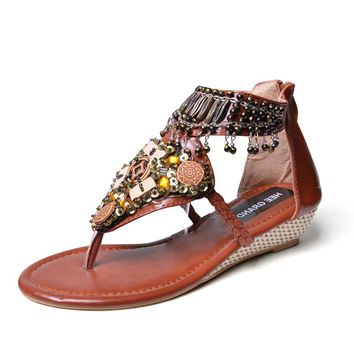 Summer Wedges - Boho Tassel Sandals