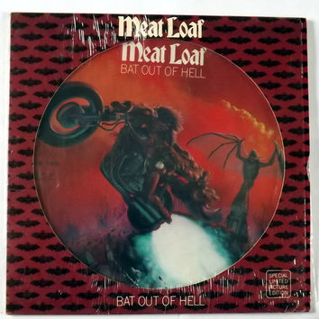 Meat Loaf Bat Out of Hell Picture Disc Limited Edition Rare Vinyl Records