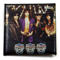 Vintage 80s L.A. Guns Glam Pinback Button Pin Badge