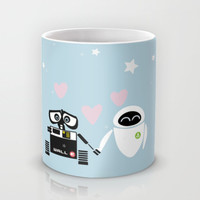 pixar walle and eve love and romance... minimalistic Mug by Studiomarshallarts