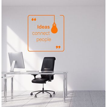 Vinyl Wall Decal Ideas Connect People Office Decor Quote Words Stickers (4050ig)