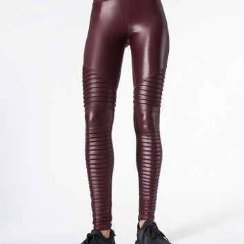 Rose Leggings in Wine