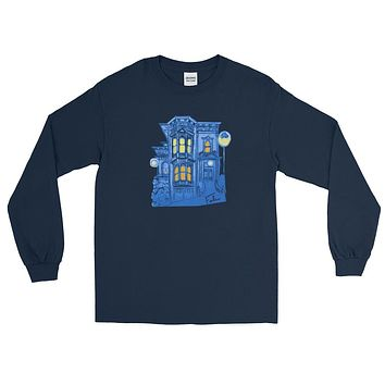 Blue Victorian San Francisco Long Sleeve T-Shirt by Nathalie Fabri
