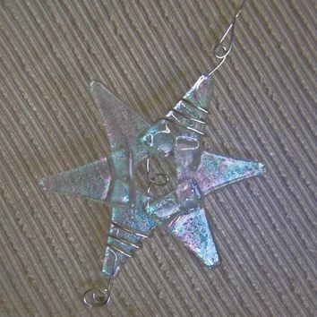 Handmade fused glass / Wedding Decoration / Iridescent Glass / Fairy Star /