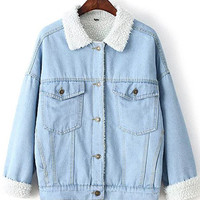 Puffy Light Denim Jacket