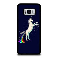 UNICORN POOPING RAINBOW Samsung Galaxy S8 Case Cover