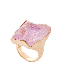 One of a Kind 18K Rose Gold and Raw Kunzite Ring