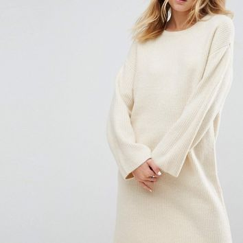ASOS Knitted Oversized Mini Dress at asos.com