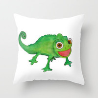 Pascel (From Tangled) Watercolor Throw Pillow by Kayla Gordon | Society6