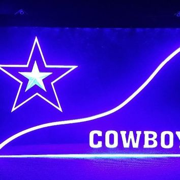 b-244 Dallas Cowboys beer bar pub club 3d signs LED Neon Light Sign vintage home decor man cave