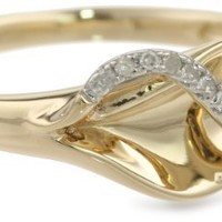 14k Yellow Gold Diamond Fashion Ring (0.08 cttw, H-I Color, I2 Clarity)