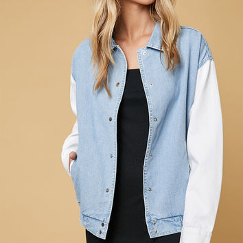 TWIIN End Game Varsity Denim Trucker Jacket at PacSun.com