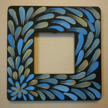 Painted Frame Blue and Bronze Aboriginal Inspired by Acires