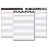 Fashion Legal Pads with Assorted Headtapes, 8 1/2 x 11, 50 Sheets, 6 Pads/Pack