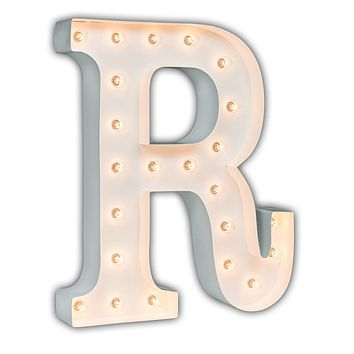 "24"" Letter R Lighted Marquee Letters (White Gloss)"