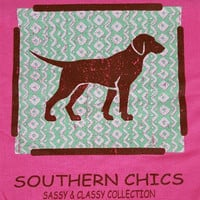 Southern Chics Pointer Dog Puppy Pink Bright Girlie Toddler Youth T Shirt