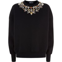 Alexander McQueen Embroidered Jewel Sweatshirt