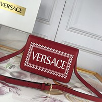 VERSACE WOMEN'S LEATHER INCLINED SHOULDER BAG