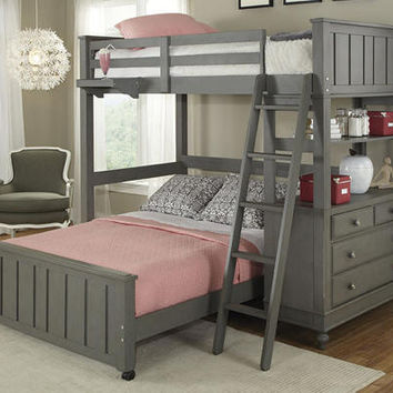 Boardwalk Full Size L Shape Storage Loft Bed
