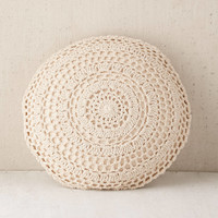 Plum & Bow Primrose Round Crochet Pillow | Urban Outfitters