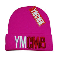 Perfect YMCMB Women Men Embroidery Beanies Winter Knit Hat Cap