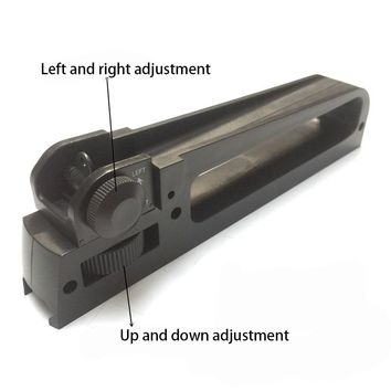 Carry Handle Dual Aperture A2 Rear Sight Plastic See through Picatinny Rail Mount Combo M4 M16 AR15 HK416