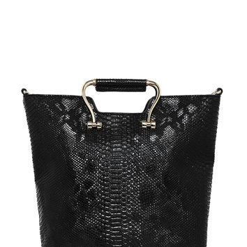 Croc Emboss Bucket Tote Bag