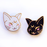 Artemis and Luna Enamel Pin Set
