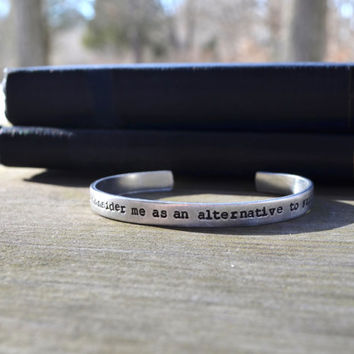 Princess Bride Quote Cuff - Romantic - Looks Like Silver - Valentine's Day - Pop Culture - Movie Quotes - Funny - Under 25 - Personalized