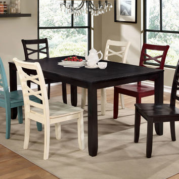 Furniture of america CM3528T-7PC 7 pc Giselle espresso finish wood dining table set