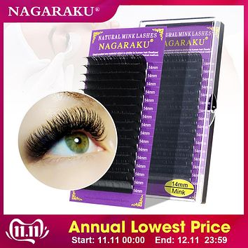 16Rows Faux mink individual professionals soft mink eyelash extension