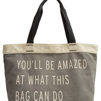 TOMS 'Transport' Canvas Tote - Grey