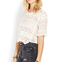 Romantic Embroidered Mesh Top