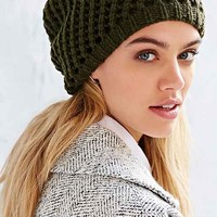 Diagonal Stitch Two-Layer Beanie-