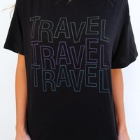 TRAVEL Tee: Black/Multi