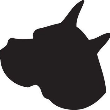 Boxer Silhouette Dog Puppy Breed Long Die Cut Vinyl Transfer Decal Sticker