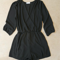 Coronado Romper in Black