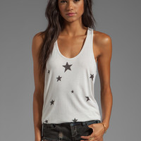 SUNDRY Big Stars Basic Tank in Powder from REVOLVEclothing.com