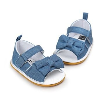 Butterfly Knot Baby Girl Summer Sandals  (0-18) Months